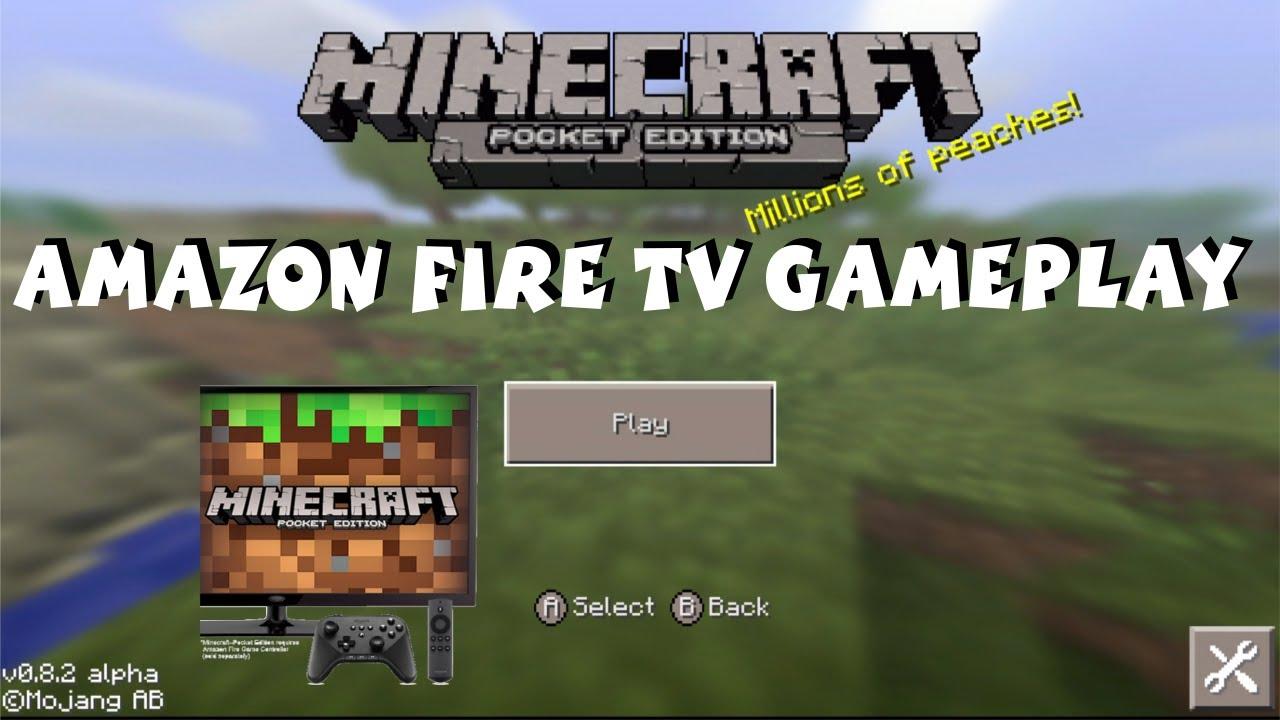 Amazon Fire TV Minecraft Gameplay Minecraft Pocket Edition P - Minecraft spiele amazon