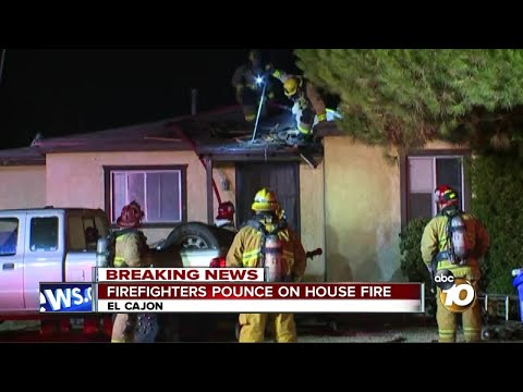 House fire breaks out in El Cajon