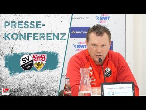 Pressekonferenz   nach dem Spiel   SV Sandhausen - VfB Stuttgart