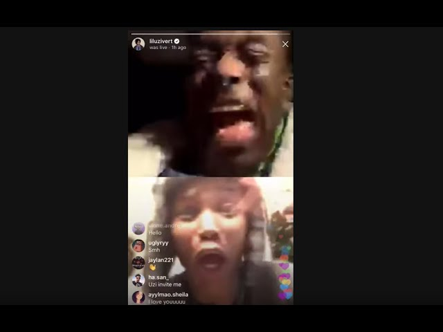 Lil Uzi Vert Screaming with Fans on IG Live