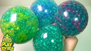 Combine All the Colors BIG Orbeez Balloon Soft Jelly Slime Clay Surprise Toys