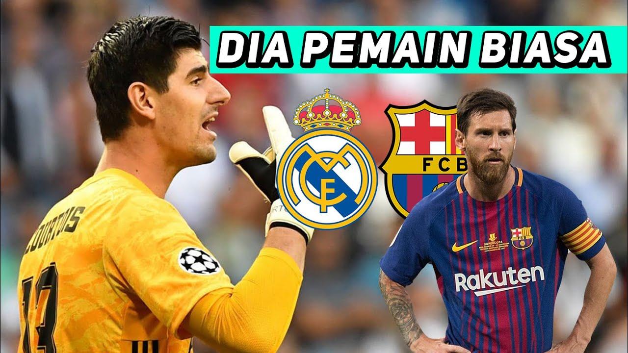 Jelang El Clasico Courtois Sudah Remehkan Lionel Messi