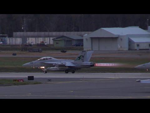 [アフターバーナー]EA-18G Growler Misawa Airbase Takeoff United States Navy 三沢基地