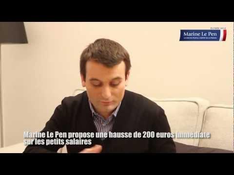 Marine Le Pen propose une hausse de 200 euros immédiate sur les petits salaires