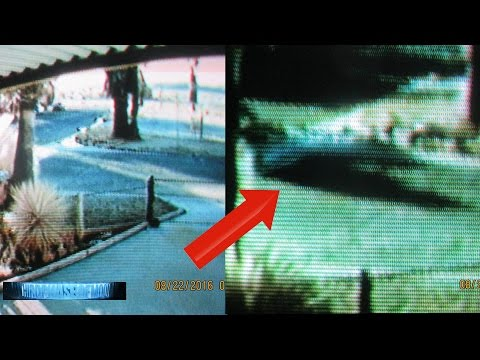 INSANE!! Surveillance CCTV [SCARY] STEALTH UFO IN FRONT OF WOMANS HOME!!? NSA TACTICS EXPOSED? 2016