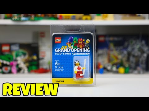 LEGO Store Grand Opening Minifigure Review - Ottawa Ontario LEGO Store - 2019