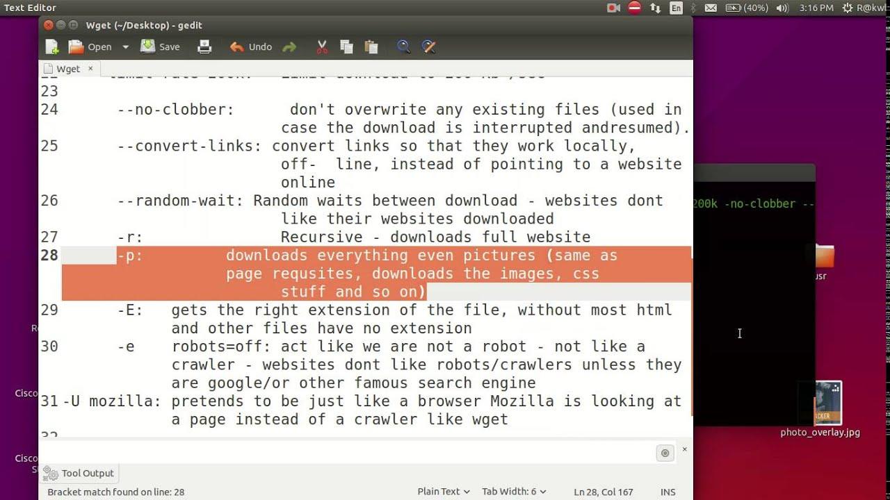 Download Mirror Website Using GNU Wget