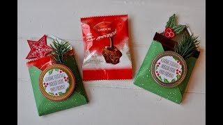 Tutorial: schneller Umschlag für eine Schokoladenportion mit Stampin