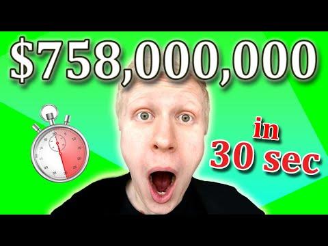 How to EARN $758,000,000 in 30 SECONDS? (Make Money Online Worldwide 2021)