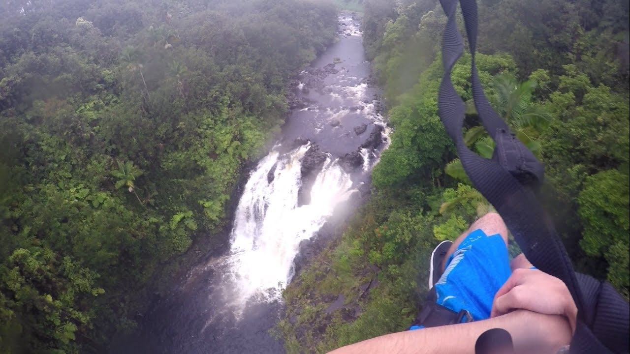 zipline through paradise l hilo hawaii youtube
