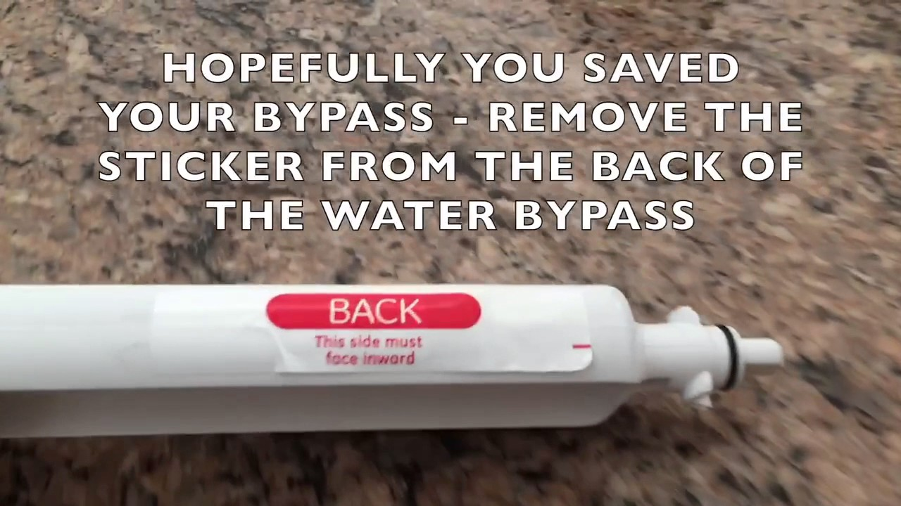 Ge Electronic Water Filter Hack Bypass Replacement Youtube
