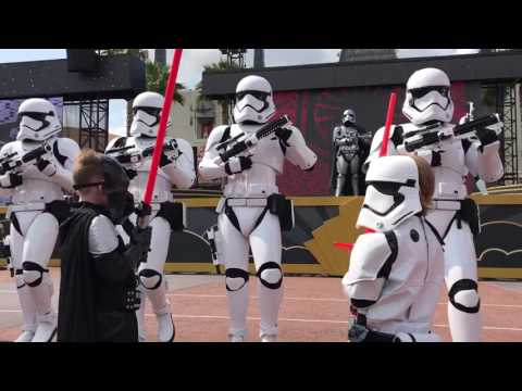 Stormtrooper march at Hollywood Studios Disney World
