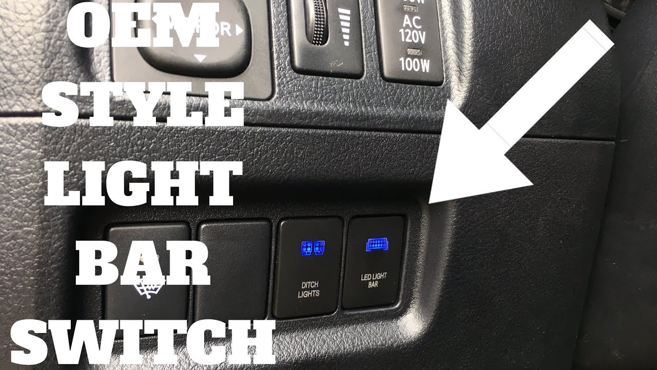 Oem Style Light Bar Switch Install Toyota 4runner Youtube