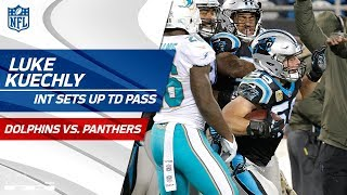 Luke Kuechly's Sick Sideline INT Sets Up Cam Newton's TD Pass! | Dolphins vs. Panthers | NFL Wk 10