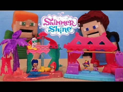 Shimmer and Shine Teenie Genies Surprise Playset Genie Magic Carpet Shop & Beach Unboxing