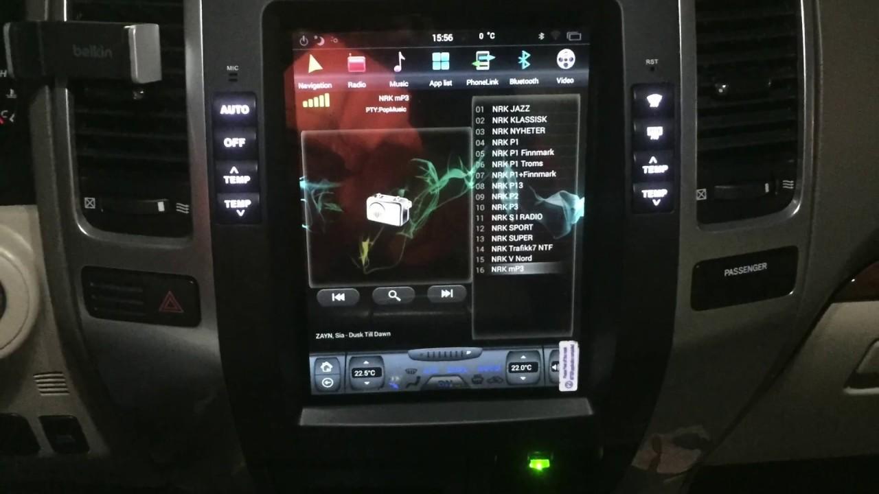 Software update Land Cruiser Tesla Screen