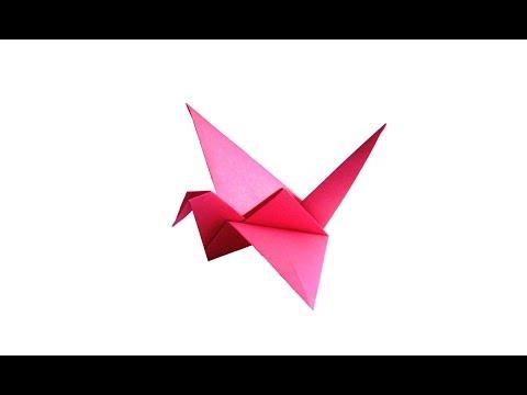 видео: Машущая крыльями птица оригами. juravliki.ru