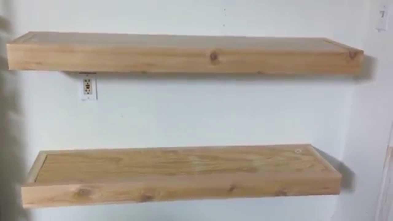 Cedar 2x4 Floating shelves custom - YouTube