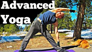 20 Min Yoga for Men Advanced Strength Workout - Killer Power Yoga for Women too! Hot Yoga Flow