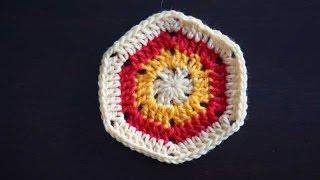Простой шестиугольный мотив крючком / Simple crochet hexagon