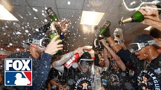 Houston Astros' Locker Room Celebration   FOX MLB