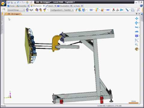 TopSolid 7 mechanical simulation with dynamic motion