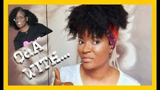 Q & A with Allenia Renee | 2020 Natural Hair Journey | Natural Hair Growth Tips with In'utu