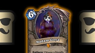 hearthstone legendary card reveal madam goya   mean streets of gadgetzan