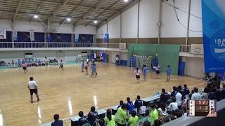 6日 ハンドボール女子 福島商業高校1コート 聖和学園vs帯広三条 2回戦