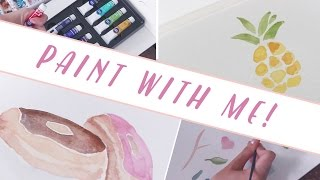 PAINT WITH ME : Watercolor Basics for Beginners