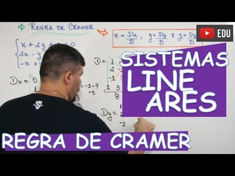 🔴 REGRA DE CRAMER (SISTEMAS 3X3)