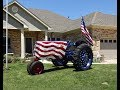 1946 Oliver Tractor Model 70 Row Crop American Flag & Engine Sound My Car Story with Lou Costabile