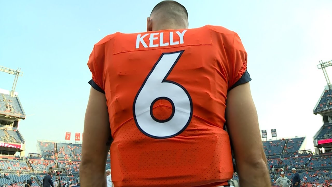 buy popular 29a06 26101 Broncos cut Chad Kelly after arrest for first-degree criminal trespass