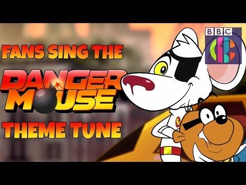 Danger Mouse theme sung  the fans!  CBBC