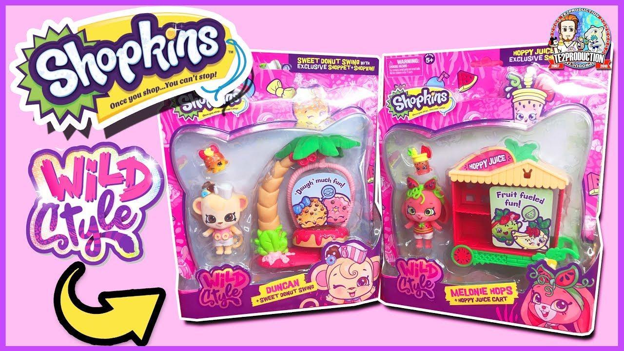 Sweet Donut Swing Play-set Duncan Shopkins Wild Style Shoppet Pack