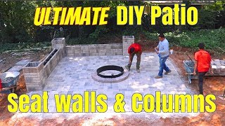 How to Build Seat walls & Columns for Landscaping, Ultimate DIY Guide for Backyard landscaping ideas