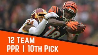 2017 Fantasy Football Mock Draft - 12 Team PPR Free HD Video