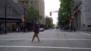 Driving in Vancouver Canada - East Hastings Street - Morning City Drive