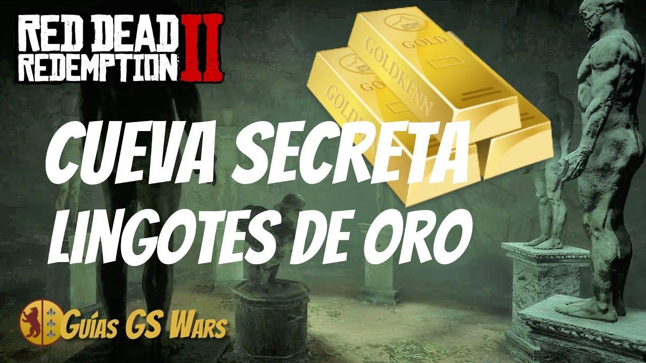 Rdr2 Lingotes De Oro Cómo Conseguir 3 Lingotes Legalmente En Cueva Secreta Serpiente Gigante Youtube