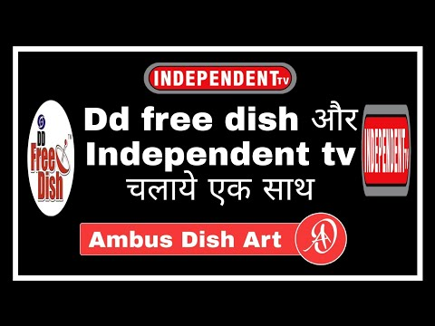 Independent tv and dd free dish setopbox together
