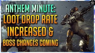 STRONGHOLD BOSS CHANGES COMING, MASTERWORK/LEGENDARY DROP RATE INCREASED [ANTHEM MINUTE]
