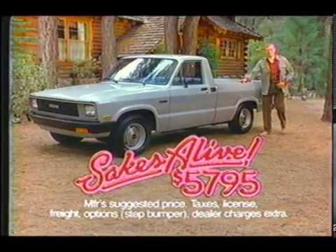 1983 mazda b2000 sundowner truck ad youtube