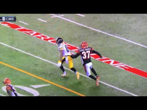 Vontaze Burfict hits Antonio Brown in the head .. Dirty