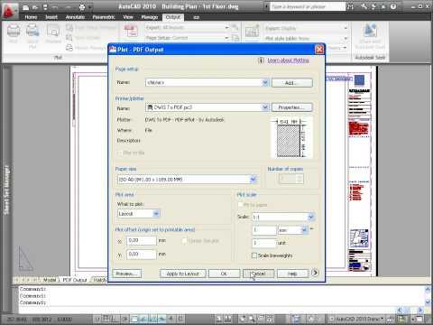 AutoCAD 2010 Demo: PDF Output