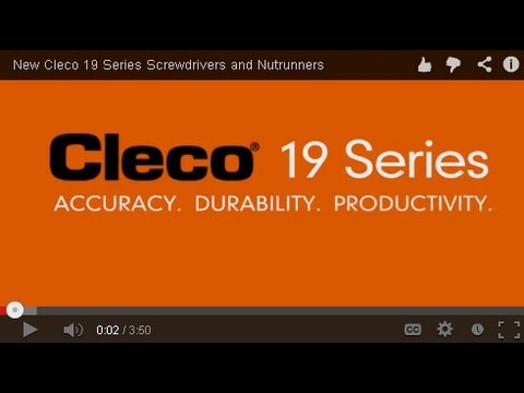 New Cleco 19 Series Screwdrivers And Nutrunners