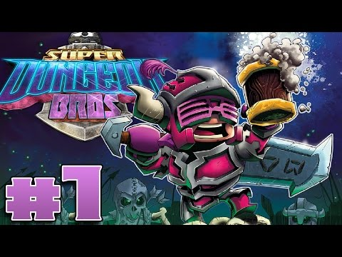 Super Dungeon Bros - #1 - Dungeon Crawling and High Fiving! (4 Player Gameplay)
