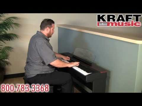 Kraft Music - Yamaha P-155 Digital Piano Demo 2010