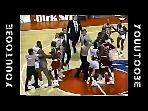 NBA Fights ● Dennis RODMAN vs Bill CARTWRIGHT