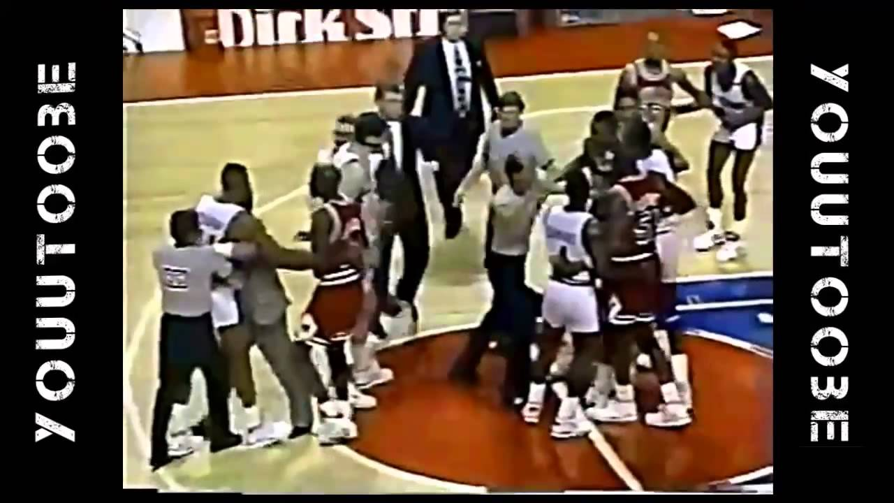 NBA Fights ○ Dennis RODMAN vs Bill CARTWRIGHT