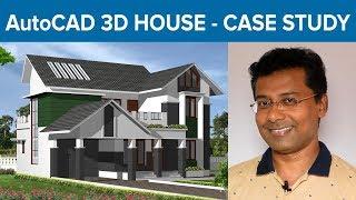AutoCAD 3D Visualisation Case Study | AutoCAD 3D House Modeling